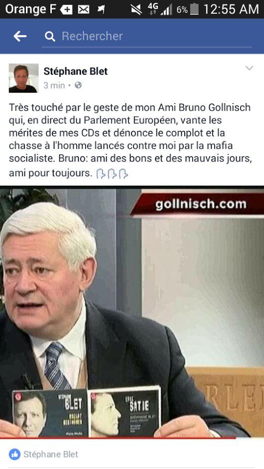 European Parliament: Bruno Gollnisch (National Front) about Stéphane Blet. (02/2017)