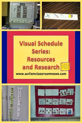Visual Schedule Series: Resources and Research by Autism Classroom News: http://www.autismclassroomnews.com