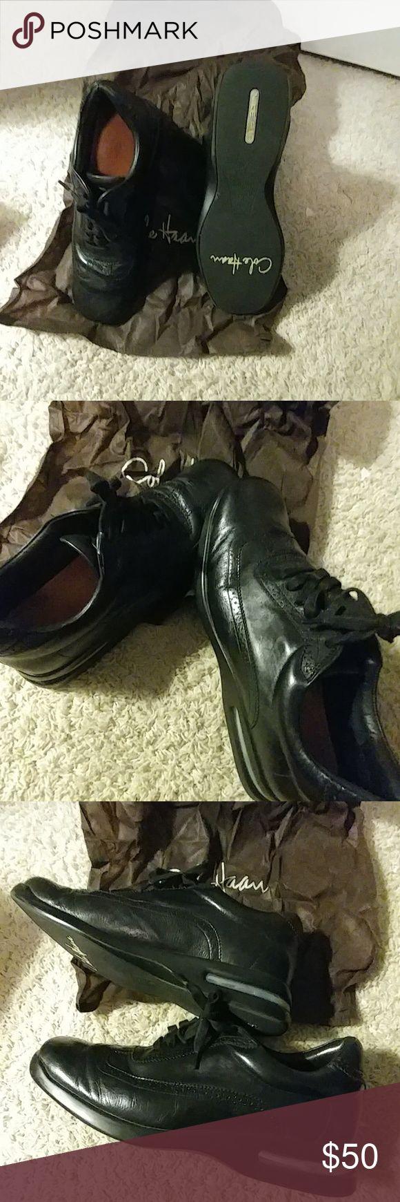 Cole Hann Black Leather Shoes Shoes