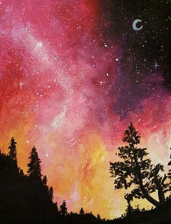 Paint Nite - Galaxy In The Pines II