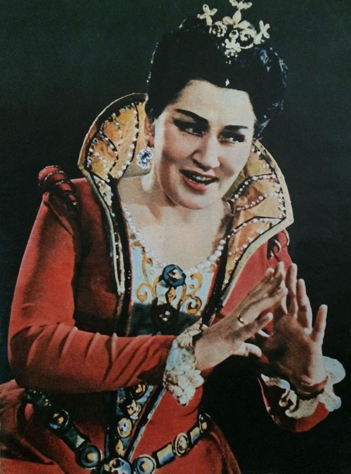 """Ирина Архипова в партии принцессы Эболи в опере """"Дон Карлос"""" Дж.Верди. Дебют в 1963 г."""