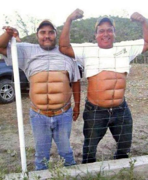 Instant Abs  (I wouldn't normally pin pictures of a dude's naked belly... but... this was just too awesome not to pin)