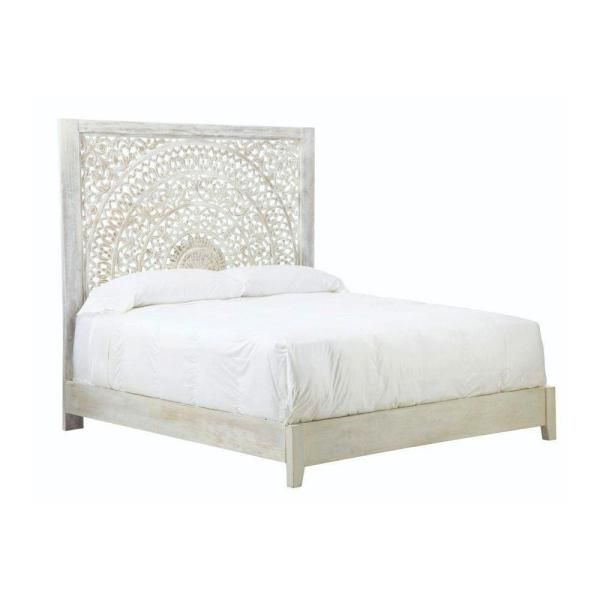 Home Decorators Collection Chennai White Wash Queen Platform Bed