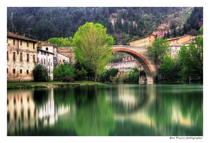 The Metauro River by Fossombrone, Le Marche, Italy