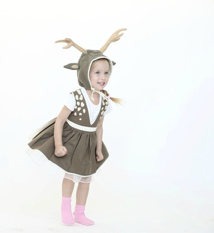 Dress up ideas for kids: The cutest little deer costume. Great for Halloween. Great for everyday dress up up.