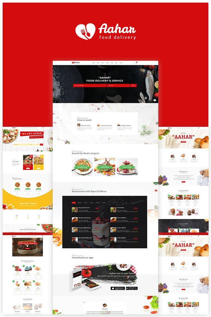 Aahar -  Responsive Food Delivery Website Template Big Screenshot
