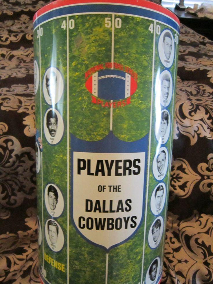 1969 Dallas Cowboys Cheinco Trash Can Take A Look Dallas