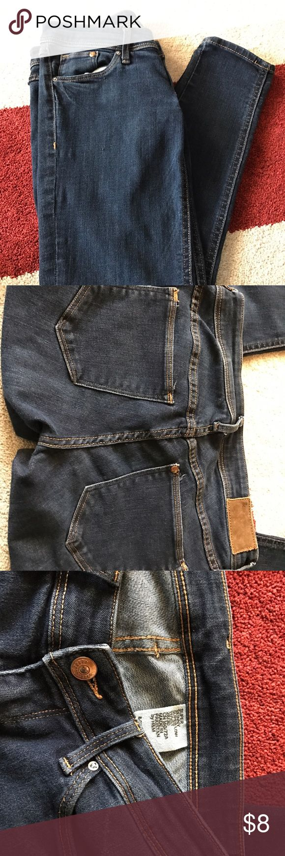 H&M Jeans size 28 H&M jeans super skinny low rise. 28/30 dark wash. No issues. Great condition. No trades. Bundle to save. H&M Jeans Skinny