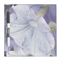 Blue Petunia Dry Erase Board - by Sandra Foster © - Sandra Foster Designs - Zazzle.