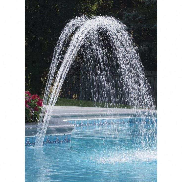 Swimming Pool Water Cascade Waterfall Above Ground