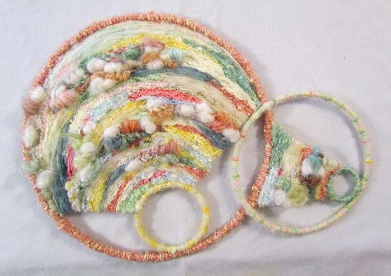 Needle Weaving Wall Hanging in Pastel colors and by marblemaam, $135.00