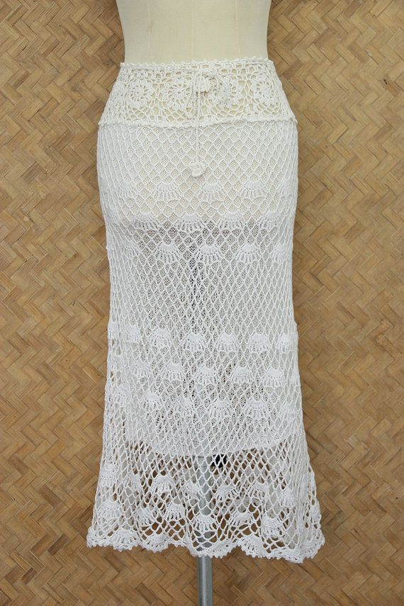 Hey, I found this really awesome Etsy listing at https://www.etsy.com/listing/206370436/white-crochet-skirt-handmade-boho