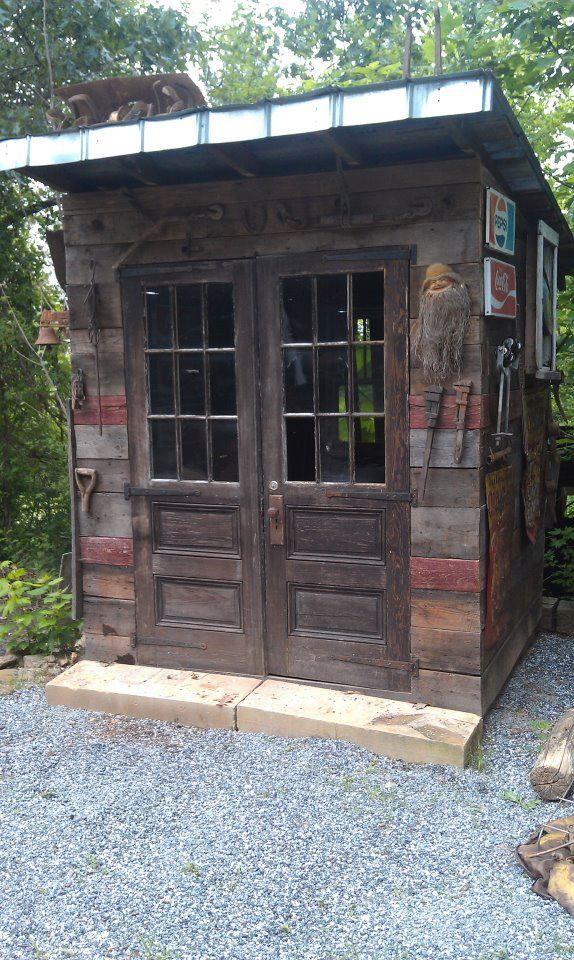 Garden Shed Made From Salvaged Recycled Reclaimed Wood