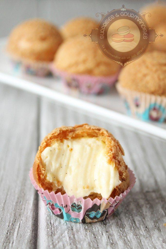 choux-vanille10 | Dessert | Recette, Craquelin et Creme pour