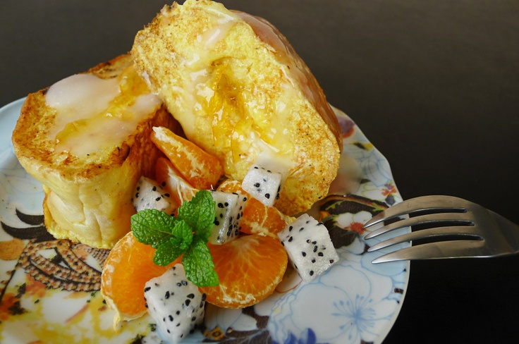 #coconut #french #toast with #orange #marmalade