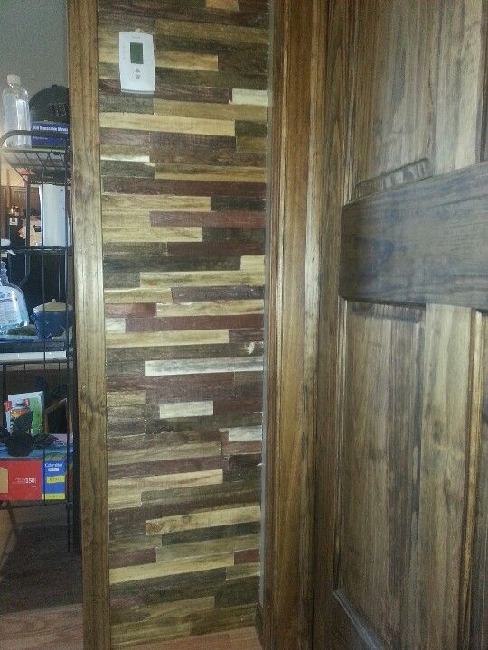 Rustic Wall Treatment Wood Lathe Stained 5 Different