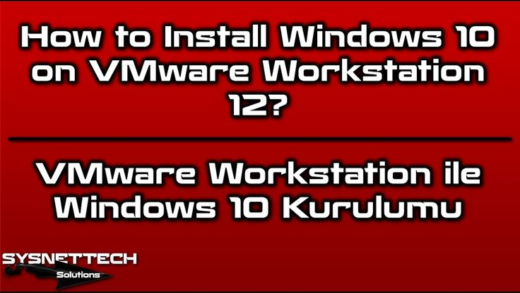 How to Install Windows 10 on VMware Workstation 12 | SYSNETTECH Solutions ------------------------------------------------------------------------------- Watch the Video ► https://youtu.be/mFZemX6sLmk ------------------------------------------------------------------------------- #VM #VMware #VMwareWorkstation #VMWorkstation #Virtualization #InstallVMware #Windows #Windows10 #InstallWindows10 #Windows10Setup