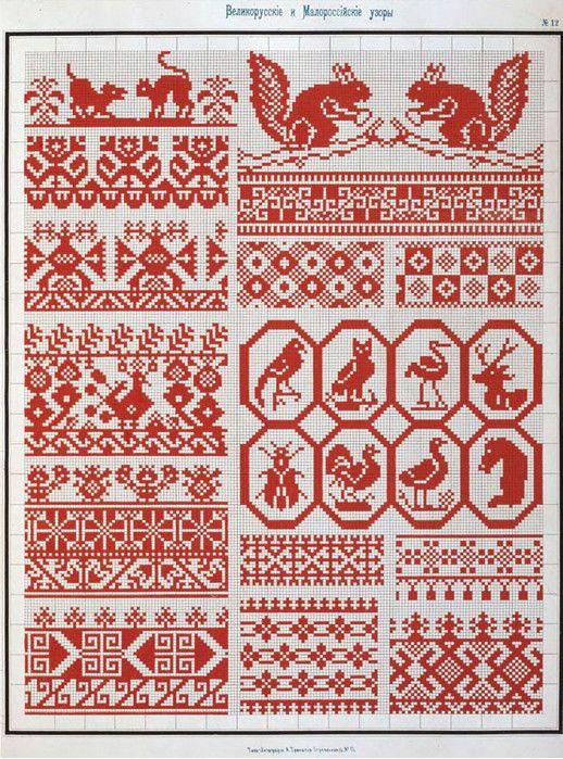 Эти схемы очень интересны, несмотря на то, что изданию уже более 100 лет! Русский орнамент по праву считается од