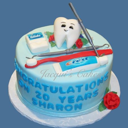 #Dentist tooth cake - congrats #Inspiration #Health #Cake #Food #Creative #Art #Dental