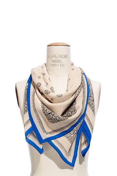 Silk Bandana Print Scarf from Madewell | Camille Styles