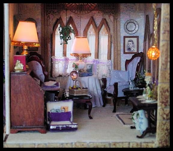 Dollhouse Miniature Roombox Sitting Room: 254 Best DOLL HOUSE SITTING ROOMS Images On Pinterest