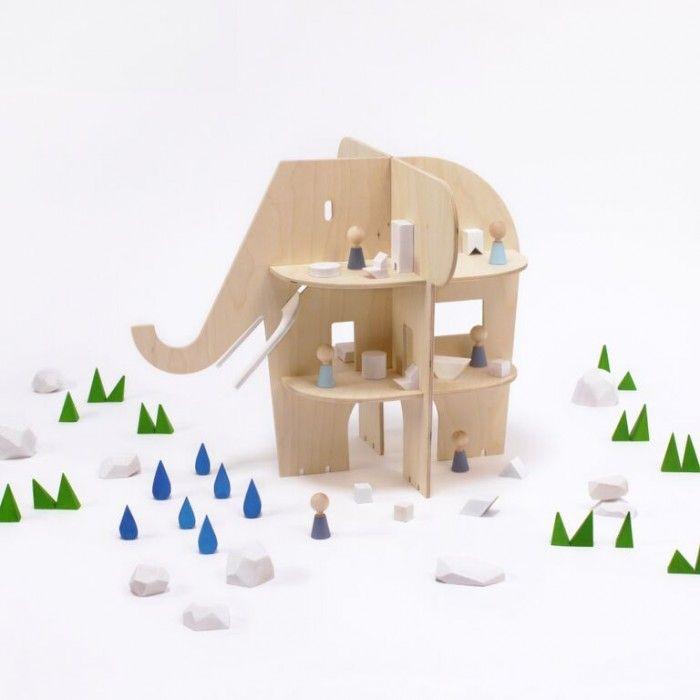 Rock Pebble Olifant Huis