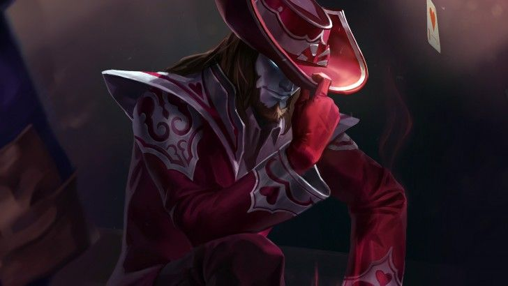 Download Jack of Hearts Twisted Fate Playing Card Skin Wallpaper HD 1920x1080