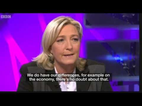 Very hostile BBC interview with Marine LePen, leader of the Front National party in France