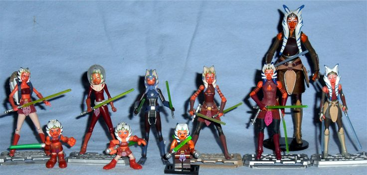 Various Hasbro and a Lego Star Wars Ahsoka Tano Figures Clone Wars, Galactic Heroes, Black Series, and Rebels