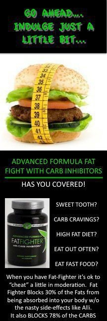 It Works FatFighters will help Block 1/3 of the Fats and Carbs you eat. Can take this up to 1 hour after you eat. Celebritythinwraps.com