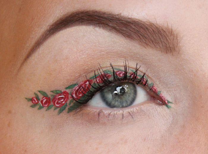 Wonderful eyeliner art by Sandra Holmbom