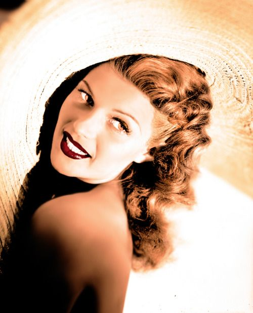 RITA HAYWORTH - This iconic American bombshell and classic pinup girl began dancing professionally at age 12 and over the course of her decades-long career, appeared in more than 40 films and costarred with the likes of Cary Grant, Fred Astaire and Glenn Ford. She passed away in 1987, but is still remembered for her unmatchable glamour and internationally renowned beauty. - From Amazing Singles - the Hottest Singles Resource on the Web… visit www.amazingsingles.com