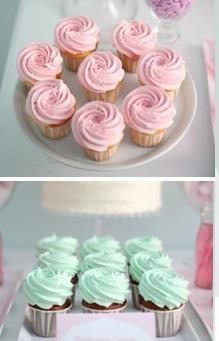 Swirl babyshower cupcakes pink and blue