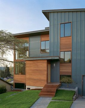 Modern Corrigated Metal Siding Design Ideas, Pictures, Remodel and Decor