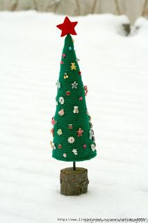 My toys: New Christmas tree crochet. Two other options.Ново...