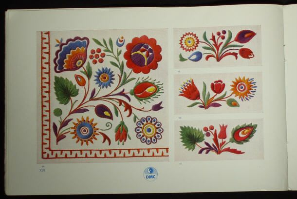 Book Czech Slovak Folk Embroidery Patterns Ethnic Peasant Charted Design