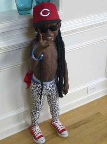 AMazing Lil Lil Wayne costume | 23 Kids Who Are Totally Nailing This Halloween Thing