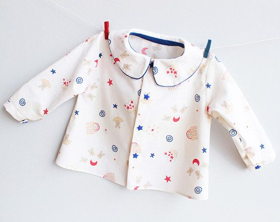 LITTLE STARS Shirt Boy and Girl sewing pattern Pdf door PUPERITA