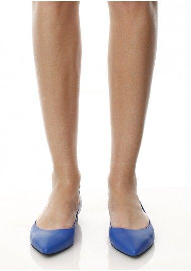 SEPALA - Balerini piele albastra #flats #balerini #leather #shoes #moja #blue #sepala