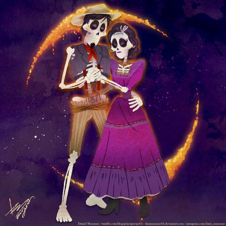 Hector e Imelda de coco Pixar
