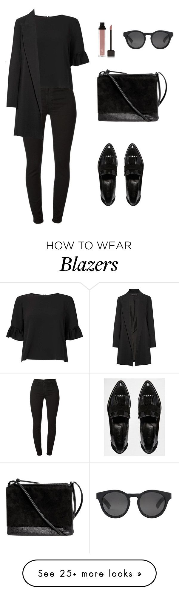 """Untitled #2553"" by meli-g35 on Polyvore featuring Miss Selfridge, River Island, The Row, H&M, Ahlem and Jouer"