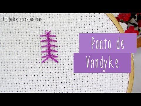 Ponto de Vandyke | Bordados de Coração