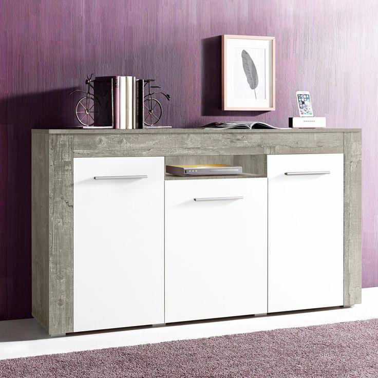 sideboard grau yourhome jetzt bestellen unter httpsmoebelladendirekt - Sideboard Fur Wohnzimmer