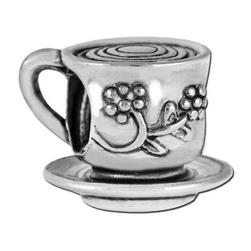 Teacup & Saucer - Pandora Style Beads, Pandora Style Charms, Pandora Style Bracelets. Over 1700 Unique Charms and Beads. Free Gift Wrapping On Every Order. 100% Satisfaction Money Back Guarantee. FREE SHIPPING on orders over $50.