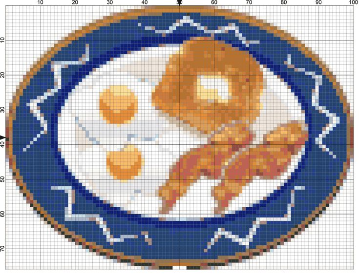 Download These 7 Free Breakfast Foods Needlepoint Designs