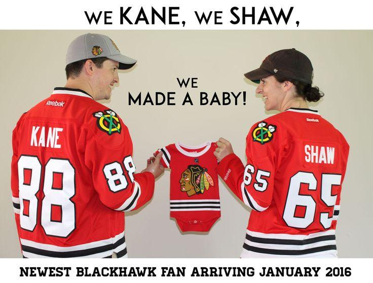 Blackhawks Hockey Pregnancy Announcement