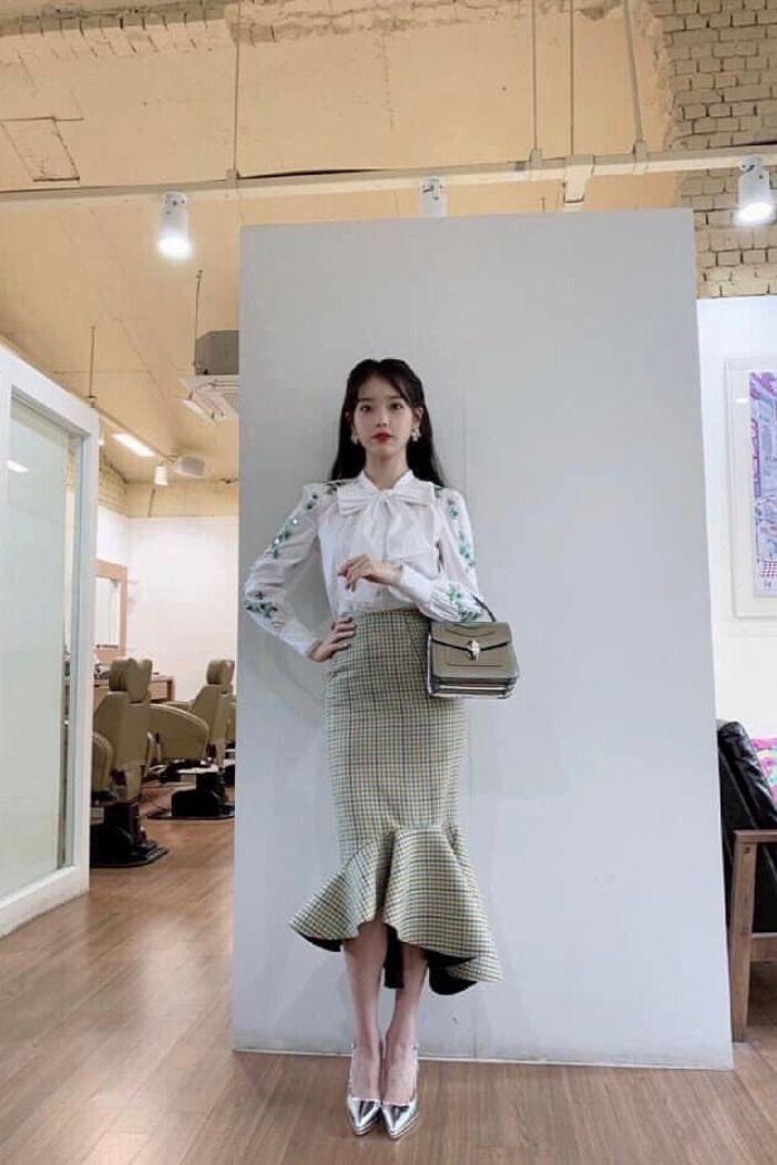Plaid Fish Tail Skirt Iu Hotel Del Luna K Fashion At