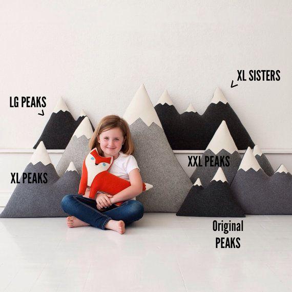 XL + XXL – Wool Mountain Pillow, floor pillows – made to order