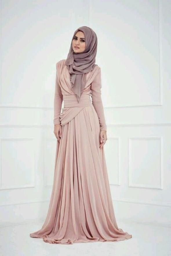 gamis muslim untuk ke pesta paling modis