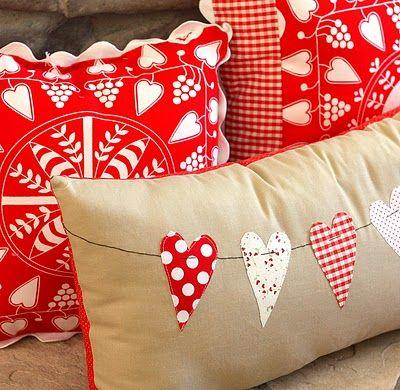 Como hacer una almohada de San Valentin